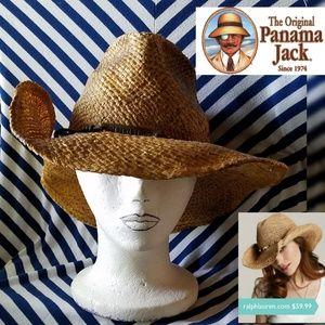 RARE Vintage Panama Jack Beach Cowboy Straw Hat